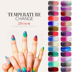 WiRinef Gel Nail Polish 8ml Temperature Change Color Changing UV Gel Polish Sequins Matte Top Coat Soak Off Nail Nail Art