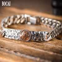 100% ture S999 reinem silber vintage Reines Mary silber armband für Mann mode mann der silber armband Thai silber männlichen armband