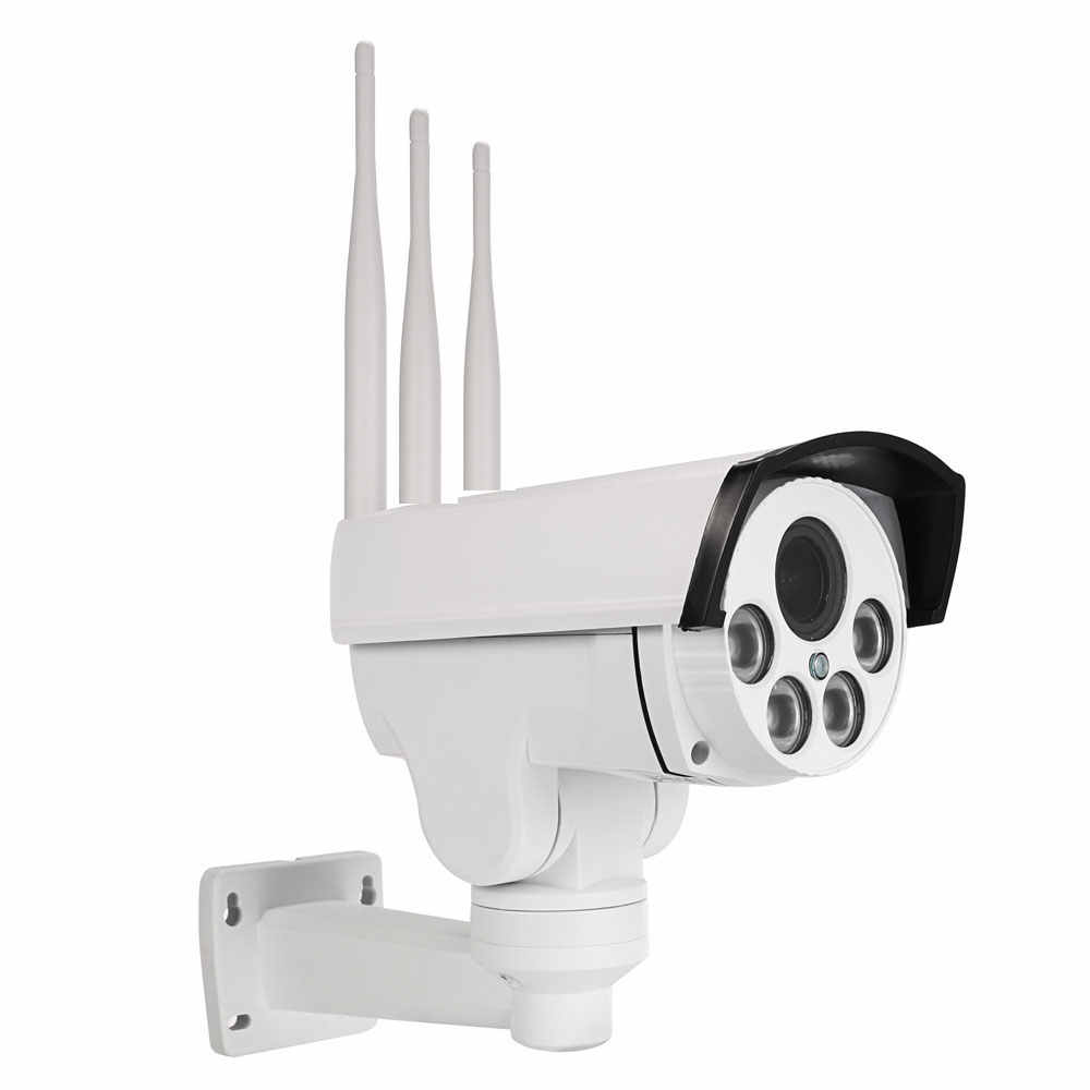 كاميرا 5MP 4G 3G بطاقة SIM واي فاي في الهواء الطلق PTZ HD 1080P كاميرا مصغرة لاسلكية IR 60M 10X التكبير التركيز التلقائي CCTV واي فاي كاميرا IP الصوت