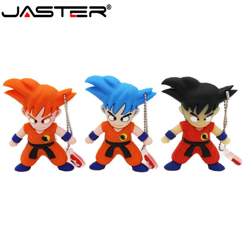 JASTER   Pen Drive 4GB 8GB 32GB Cartoon Dragon Ball Goku Kuririn Pendrive 16gb Usb Flash Drive