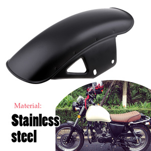 Image 5 - Motorcycle Front Fender Mud Flap Guard Fairing Mudguard Fairing Mud Flaps Splash Guard Wheel Cover For Suzuki GN125 GN250 Etc