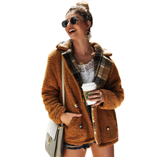 Women cardigan coat European and American fashion 2019 autumn winter new Flocking Ladies tops