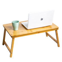 New Bamboo Material Foldable Laptop Notebook Lap PC Folding Desk Computer Desk Portable Table Vented Stand Bed Tray