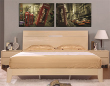 Retro European and American style art painting 2 pieces square HD spray wallpaper for XXL XL L home decor