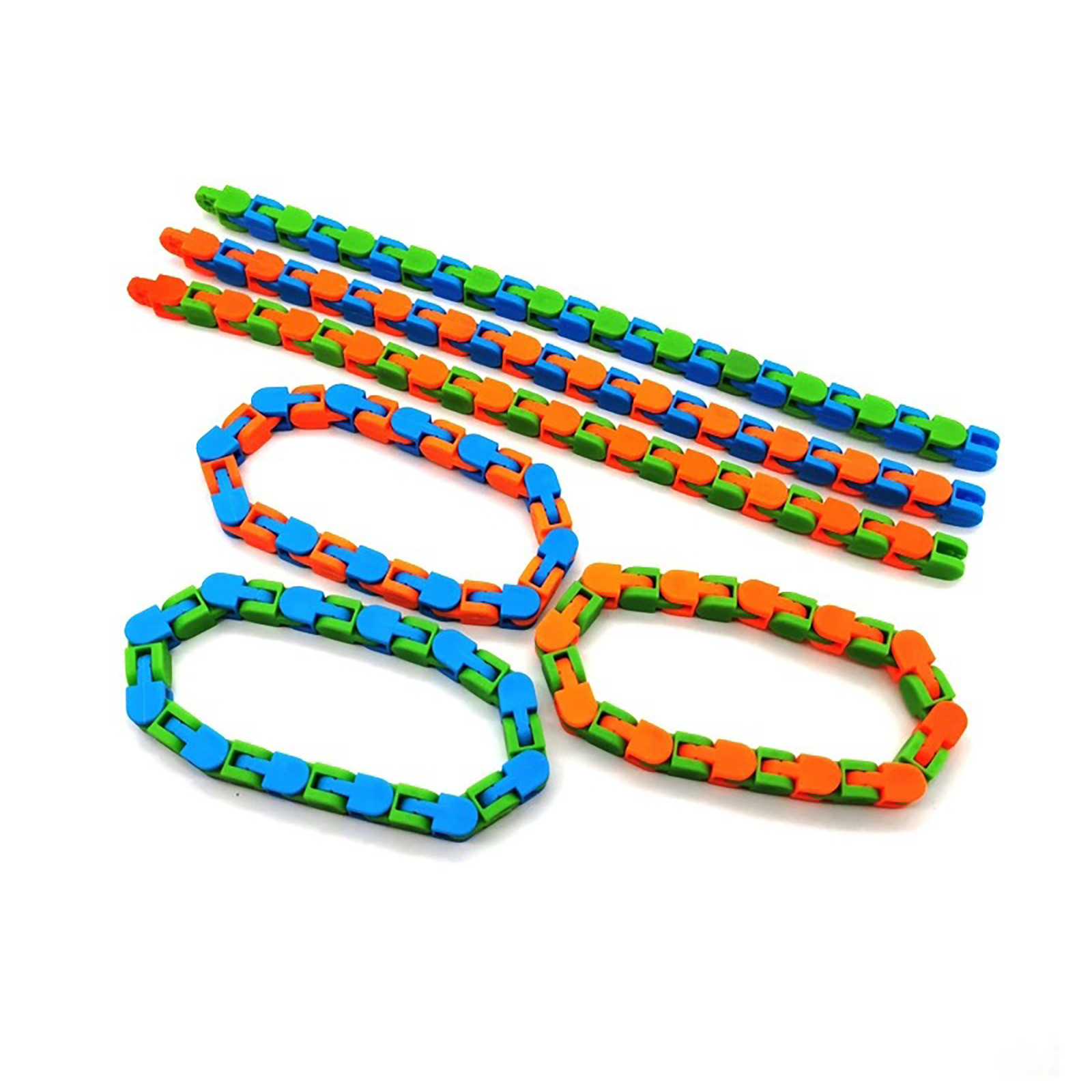 New-Toys Puzzle Tracks Stress Wacky Sensory Snap Click And Relief-Rotate Shape 24bit