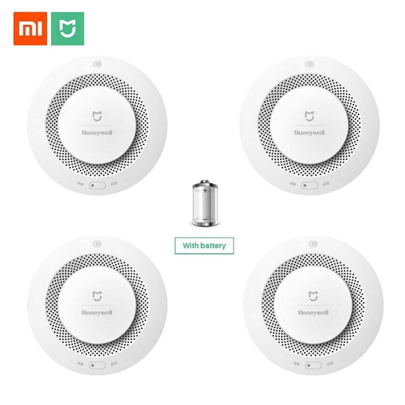 Xiaomi Mijia Honeywell Fire Alarm Detector Photoelectric Smoke Sensor Aqara Zigbee Remote Control With Mihome APP