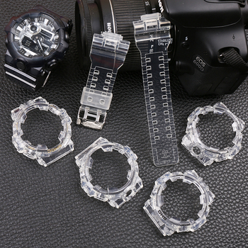 купить Watch accessories 16mm resin strap for Casio G-SHOCK GA-700-710-735 watch transparent strap men's & Ms sports watch case в интернет-магазине