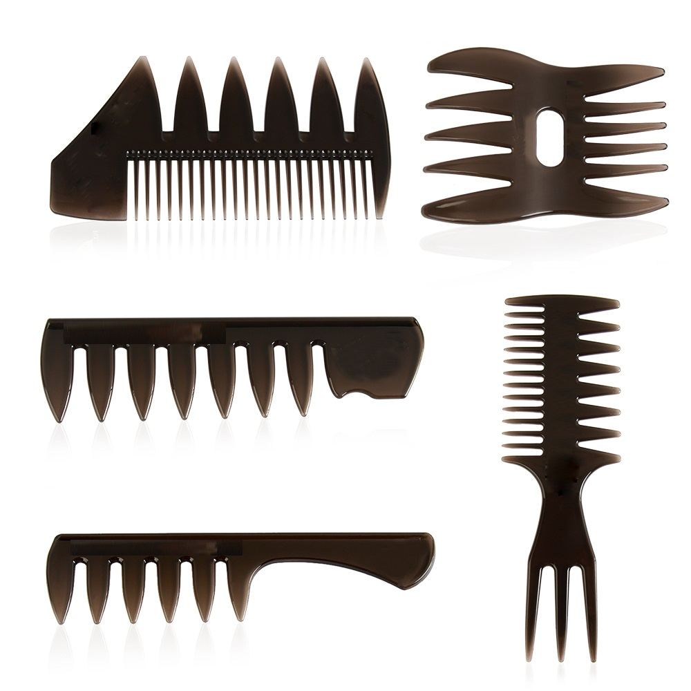 NEW! 1pc Wide Teeth Hairbrush Fork Comb Men Beard Hairdressing Brush Barber Shop Styling Tool Salon Accessory