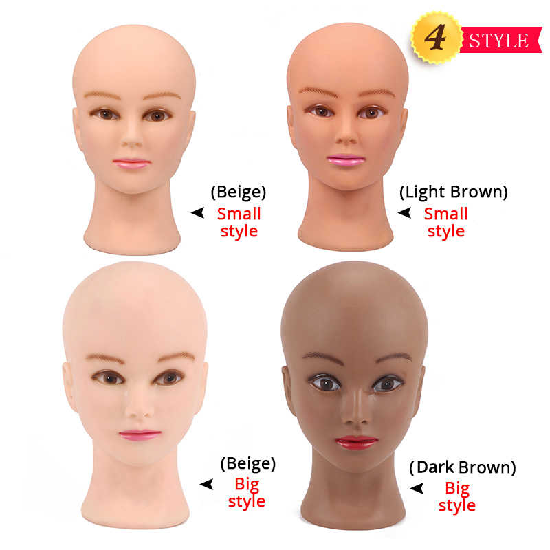 Nunify Bald Head Voor Haarverlenging/Kant Pruiken/Etalagepop Oefenpop Hoofd Pruik Stand/Hoofd Droger/ maken Pruik Met Stand