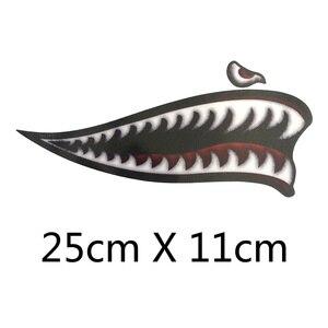 Image 3 - Adesivo de vinil para dentes de tubarão, adesivo para decalques de motocicleta harley sportster xl883 xl1200 iron 48 72 universal