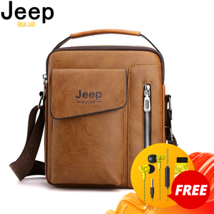 JEEPBULUO Casual Men Shoulder Bag Vintage Crossbody Bags High Quality Male Bag PU Leather Handbag Capacity Men Messenger Bags