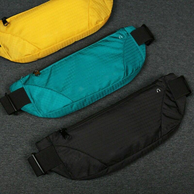2019 Water Resistant Running Hiking Sport Bum Solid Bag Travel Money Phone Waist Belt Pouch