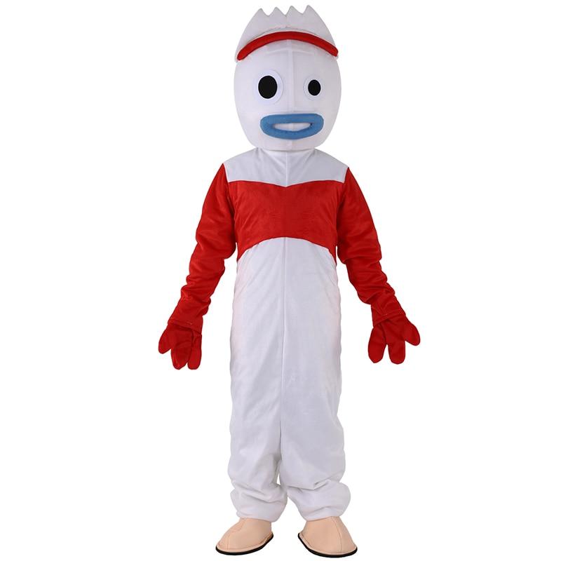 Vente chaude jouet histoire 4 Forky mascotte costume boisé Costume pour adulte Halloween carnaval événement