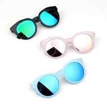 2018 fashion brand kids sunglasses black retro children's sunglasses UV protection baby sun glasses girls boys glasses