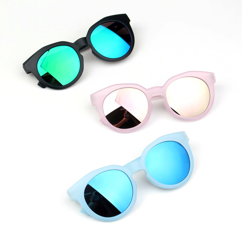 2018 Fashion Brand Kids Sunglasses Black Retro Children's Sunglasses UV Protection Baby Sun Glasses Girls Boys Glasses