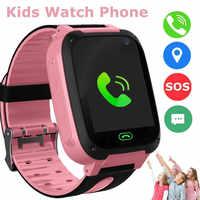 Nuevo 2021 niños inteligente del teléfono del reloj Lbs/gps Sim tarjeta llamada de emergencia de la pantalla de la Cámara inteligente multifunción reloj impermeable