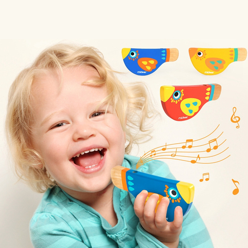 Wooden Musical Instruments For Children  Cartoon Bird  Whistle Baby Wood  Learning Education Toys For Children  Musical Whistle