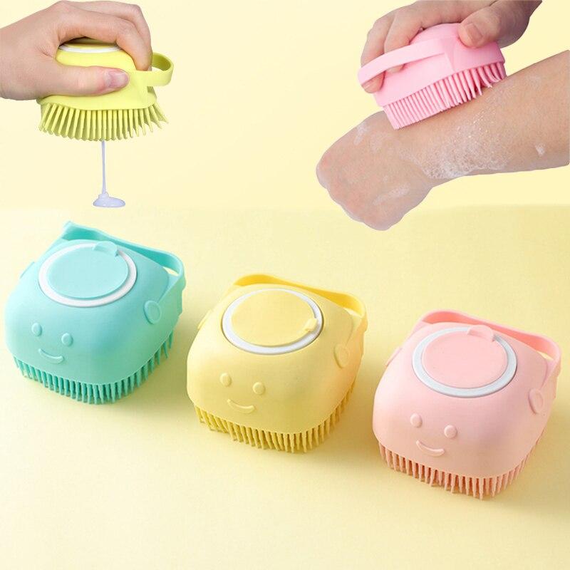 Pet Dog Shampoo Brush Magic Silicone Brushes Bath Towels Body Brush Bath Belt Exfoliating Wash Skin Household Clean Shower Brush
