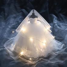 Миниатюрная модель свадебного платья, изысканная прозрачная коробка с украшением для свадебного торжества с лампой для дня рождения и Дня Святого Валентина