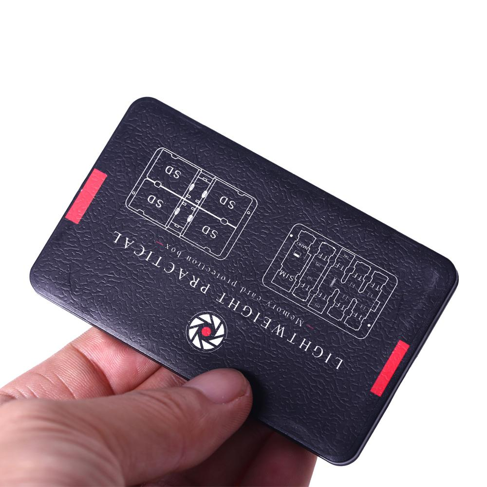 1set Card Cartridge Memory Card Case Holder For Micro And Standard SD Card Storage Holder  Black