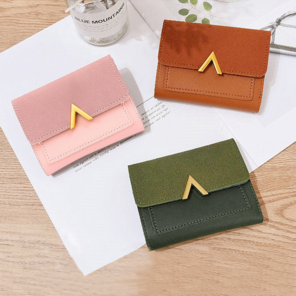 Ladies Wallet Leather Credit Card Coins Money Holder Mini Purse Womens Tan