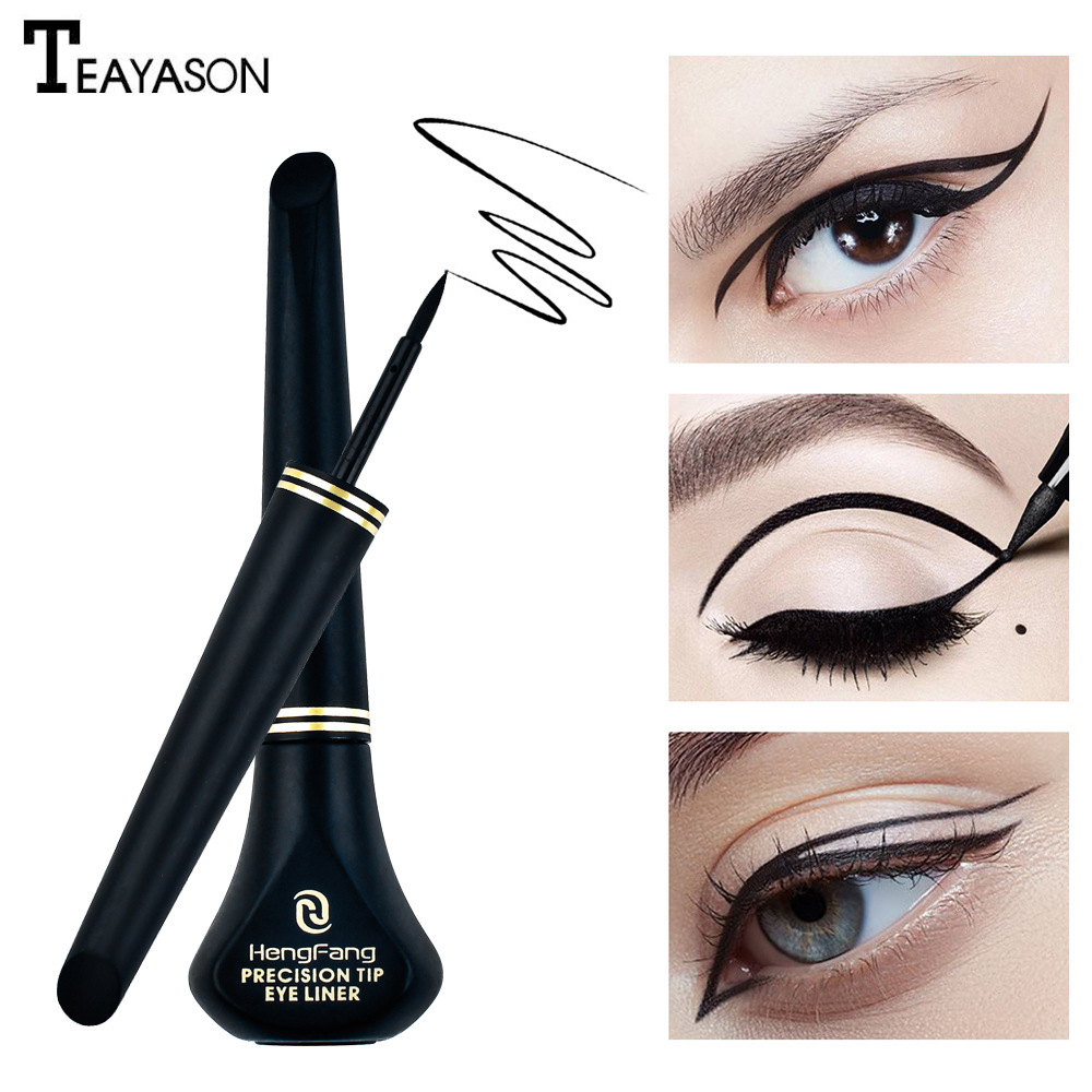 Hallon eyeliner waterproof and sweat-proof, non-marking, long-lasting, non-staining, hard head, pseudo-simple eyeliner, female image