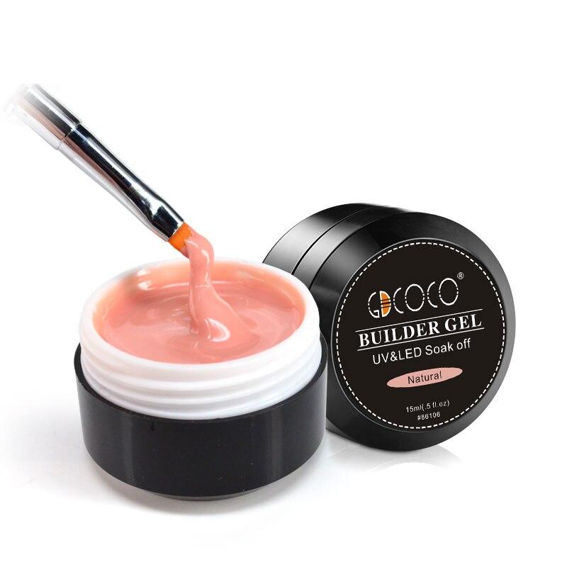86106 GDCOCO Builder Gel 15ml arte de uñas Natural rosa claro camuflaje Color extender uñas Gel 45g extensión de dedo uñas de Gel de cristal