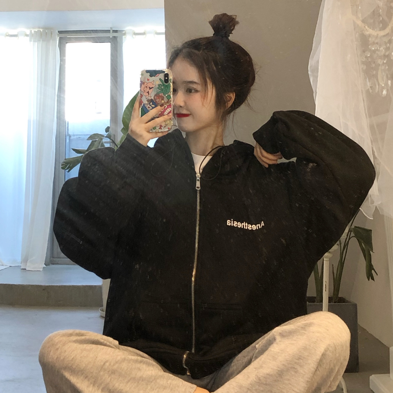 Bts Zip Up Gray Color Hoodies Sweatshirt Casual School Wear Sudadera Mujer Bts Bangtan Bluza Damska Hoodies