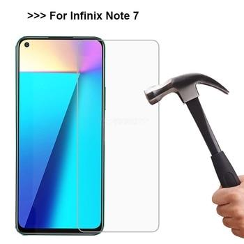 Перейти на Алиэкспресс и купить 3-1 шт для Infinix Note 7 Lite Закаленное стекло протектор экрана 9H Защитная пленка для телефона для Infinix Note7 X690 6,95 дюймчехол Vetro