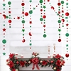 4Meter Glitter Star Round Paper Garland Christmas Banner Bunting Birthday Christmas Party Decorations Christmas Tree Ornaments
