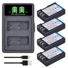 Batterie de caméra EN-EL9 EN-EL9a, 2400mAh et chargeur LED pour Nikon EN-EL9a D40 D40X D60 D5000 D3000 ENEL9 ENEL9a