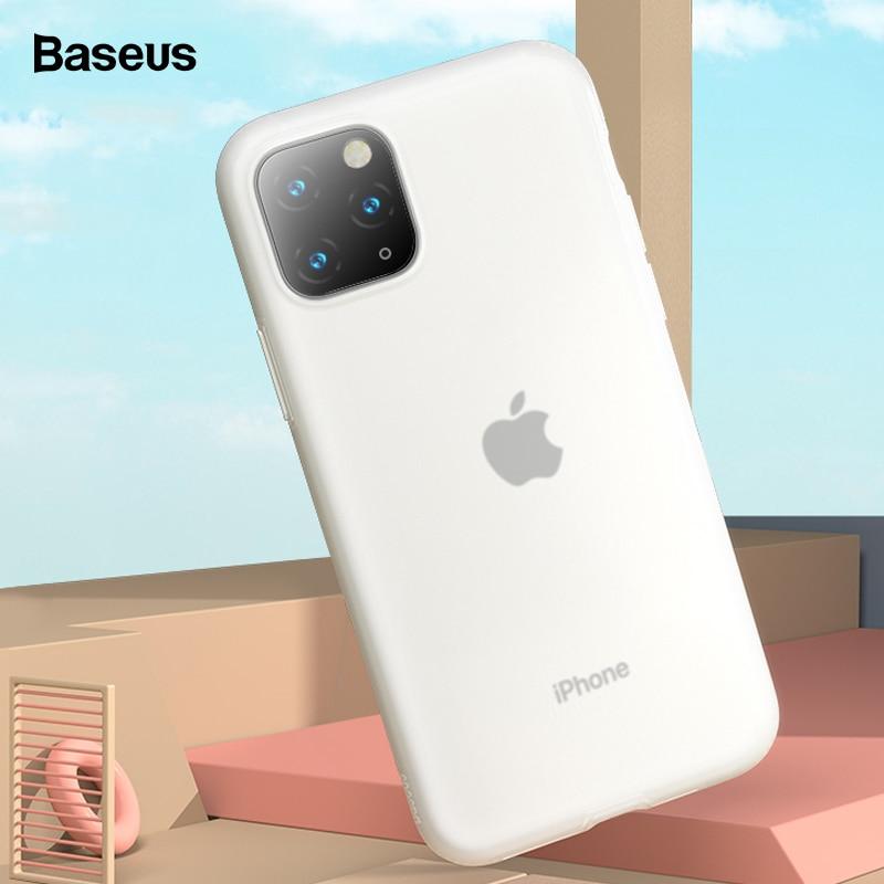 Baseus caso do telefone para iphone 11 pro max 11pro caso de luxo macio silicone líquido volta capa para iphone11 caso coque fundas capa
