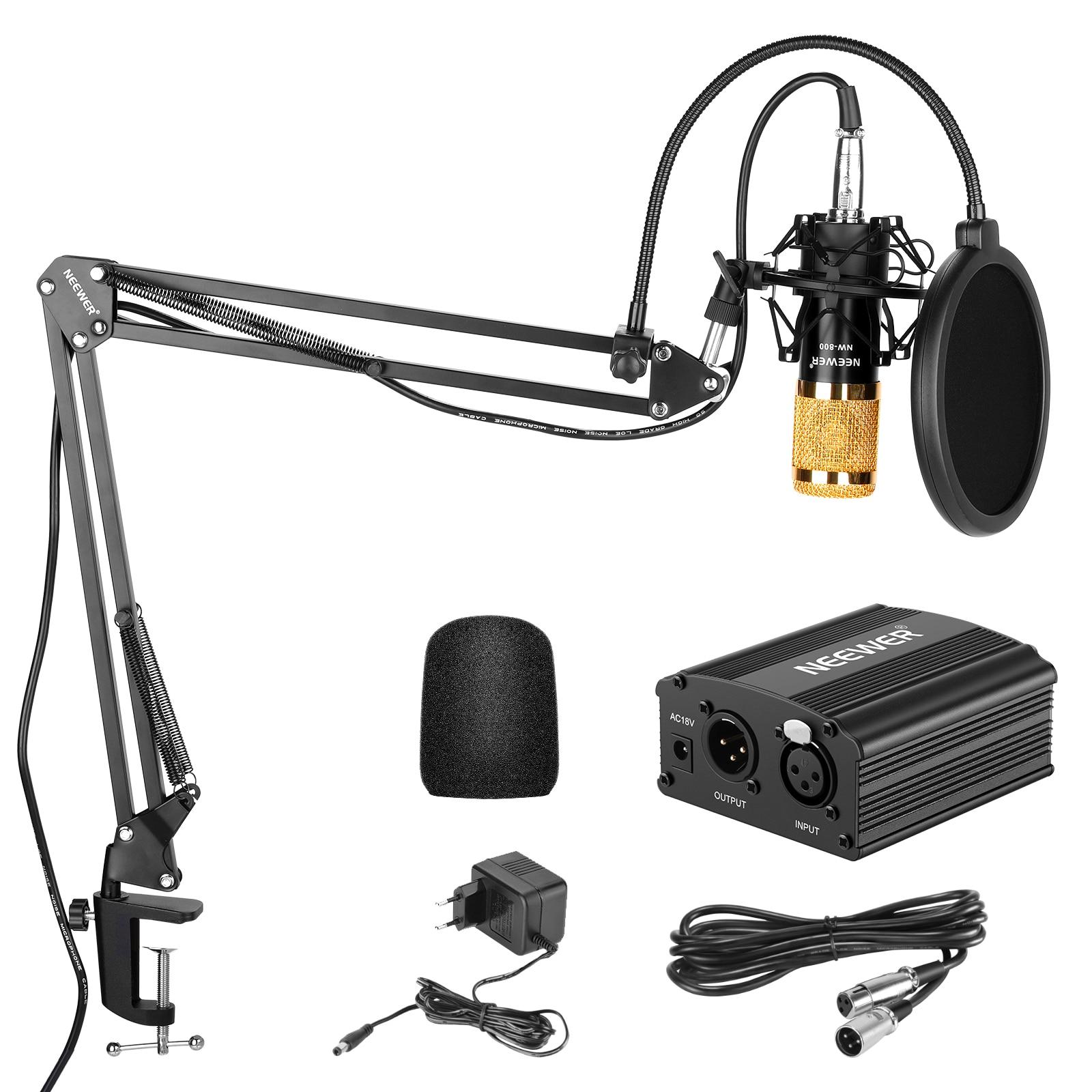Конденсаторный микрофон Neewer NW-800, комплект, черный, для домашней студии