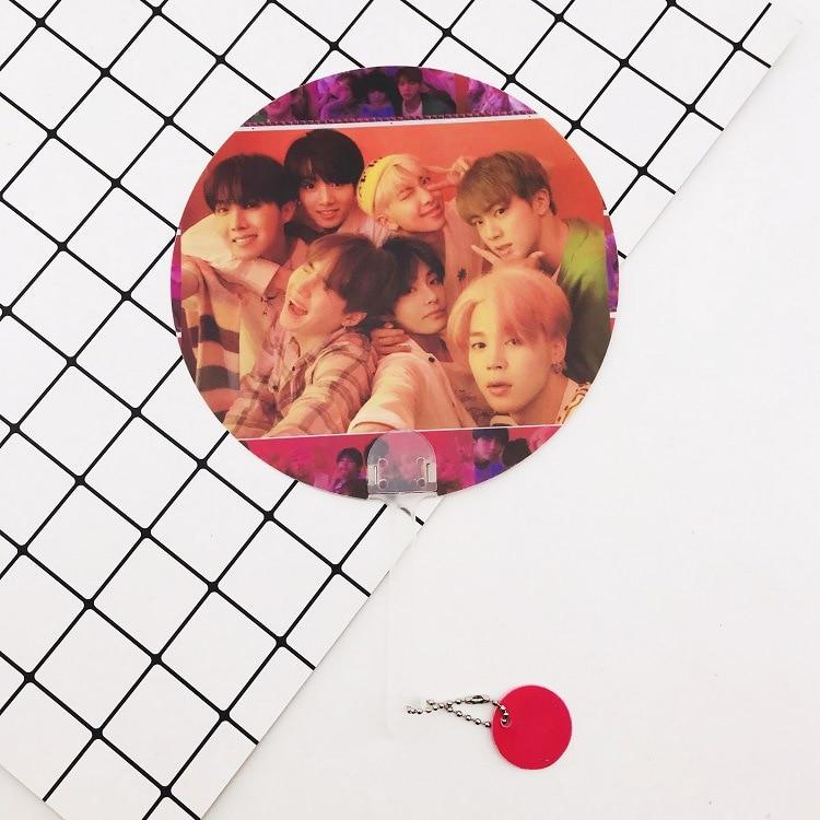 Kpop Bangtan Boys WORLD TOUR такие же полупрозрачные вентиляторы любят себя ответят на концерты те же вентиляторы 18X28 см - Цвет: 9