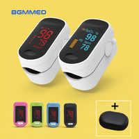 Médica Oxímetro de pulso Digital de LED Oxímetro de oxigênio no sangue Monitor de Freqüência Cardíaca SpO2 Saúde Monitores Oxímetro De Dedo