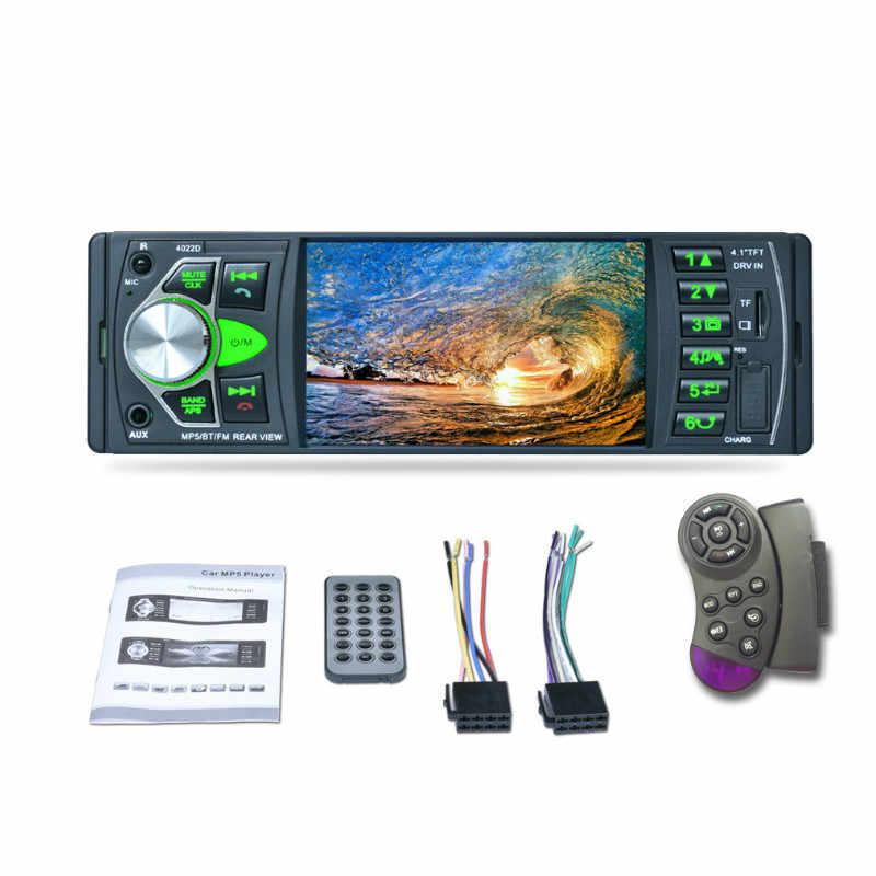 "Car Radio 1 Din 4"" Touch 4022D Autoradio  Stereo Bluetooth Multimedia MP5 Player Auto RadioAudio Video USB TF AUX Hands Free"