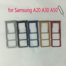 Sim-Card-Tray Adapter-Holder Samsung Phone Nano Micro-Sd-Card for A10 A20/A30/A40/..