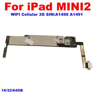 Image 2 - A1489 A1490 A1491 עבור iPad Mini2 Mainboard עם IOS מערכת 100% סמארטפון עבור iPad מיני 2 האם 16GB 32GB 64GB היגיון לוח