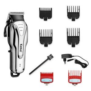 Image 2 - Tondeuse professionnelle pour hommes, rasoir électrique et rechargeable, idéal pour salon de coiffure, idéal pour faire des coupes de cheveux et barbier, 100v 240v