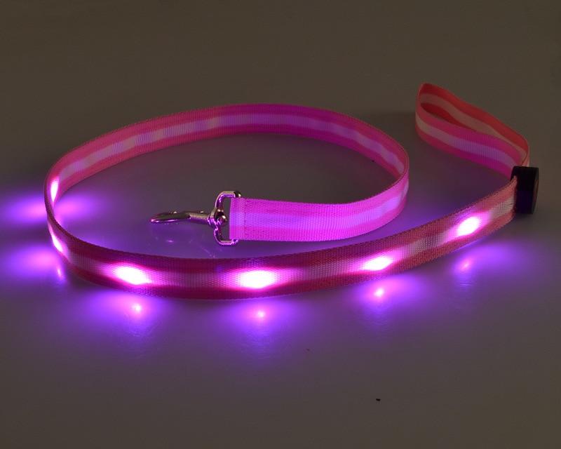Hot Selling Fiber LED Small And Medium-sized Dogs Pet Night Dog Flash Shiny Dog Collar