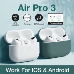Airpodding Pro 3 Bluetooth Earphone TWS Wireless Headphones HiFi Music Earbuds Sports Gaming Headset For IOS Android Phone