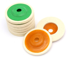 цена на 2Pcs/Set 4 Inch 100mm Wool Polishing Wheel Buffing Pads Angle Grinder Wheel Felt Polishing Disc For Metal Marble Glass Ceramics