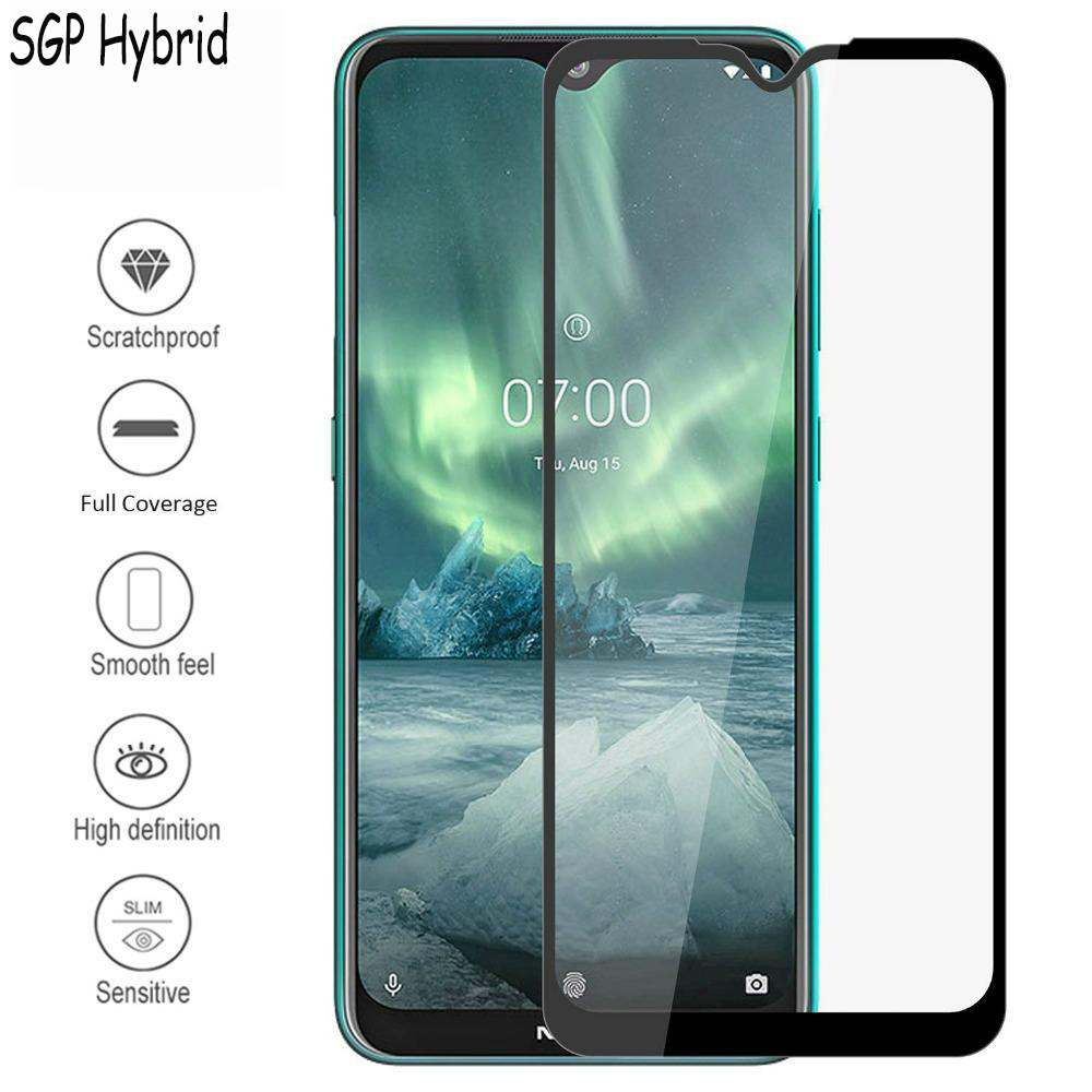 Full Cover Protective glass on <font><b>Nokia</b></font> 2.2 3.2 4.2 <font><b>Screen</b></font> <font><b>Protector</b></font> Protection Tempered glass For <font><b>Nokia</b></font> 6.2 <font><b>7.2</b></font> Glass Film to Edge image
