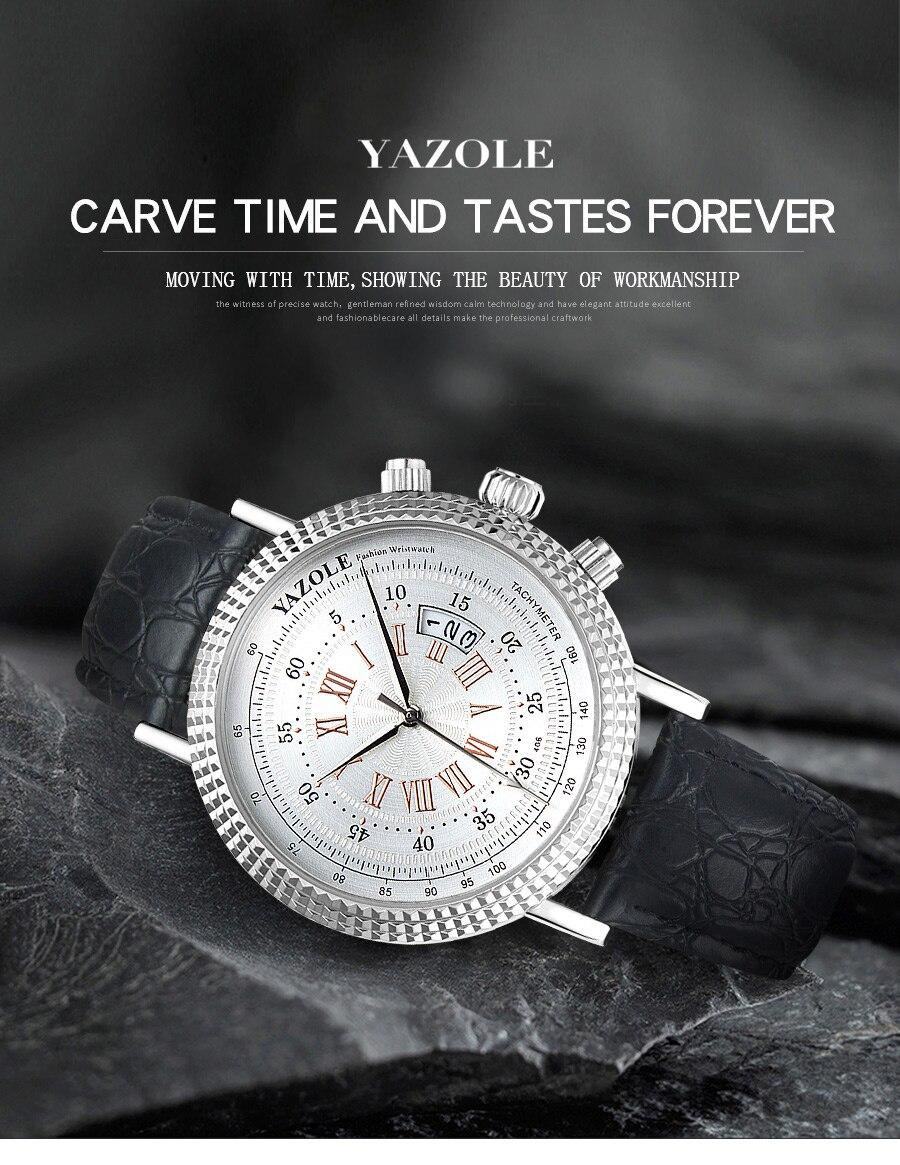H8f03eef67a6d400c82ee3fa98445d281d Luxury Business Men's Watches relogio masculino PU Leather Strap Hiqh Quality Dress Watch Men Classic Casual Quartz Male Clock