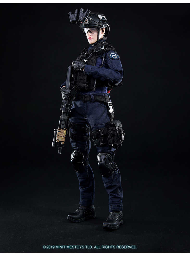 Female SWAT Mini Times Action Figures Glasses 1//6 Scale