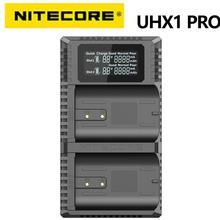 Nitecore uhx1 pro carregador de câmera de viagem de slot duplo para baterias do sistema hasselblad x modelos compatíveis: x1d 50c, x1d ii 50c