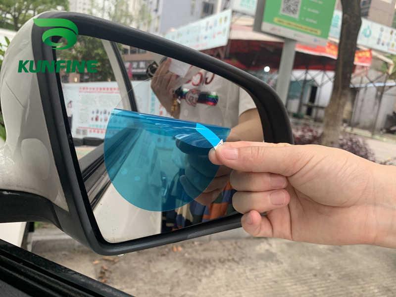 2 adet araba dikiz aynası koruyucu Film araba ayna pencere şeffaf Film Anti Dazzle su geçirmez yağmur geçirmez Anti sis araba Sticker