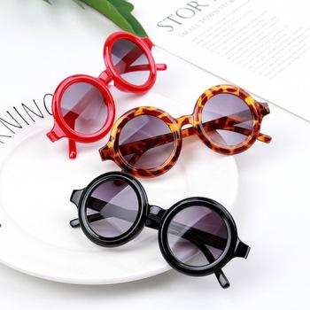 Kinlion Vintage Kids okrągłe okulary przeciwsłoneczne dla dzieci Retro ponadgabarytowe okulary dla dzieci dla dziewczynek chłopcy Lentes Gafas De Sol niemowlę 2020 tanie i dobre opinie Ywdm CN (pochodzenie) Dziewczyny Gogle Z tworzywa sztucznego Lustro 50mm Żywica 1558