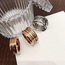 Bv original clássico s925 prata anel de mola com diamante anel de primavera rosa ouro feminino original anel de noivado presente para girlfri