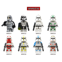 цена на WM6036 Single Sale Building Blocks Mimban Imperial Patrol Swamp Star Corps Imperial Red Clone Troopers Children Gifts Toys DIY
